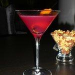 Cosmopolitan in the bar