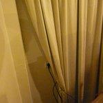 Badly hung curtains