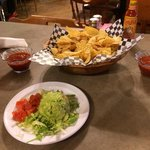 Guacamole & chips with salsa