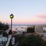 vista vespertina de la bahia desde la terraza