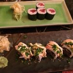 Awesome sushi - Dynamite Roll by Chef Joel and his team.
