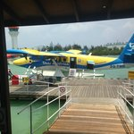 Sea Plane to the Isand