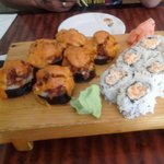 Volcano roll and Maryland crab roll
