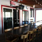 Back room for parties or meetings