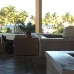 Lobby bar looking out towards pool and ocean
