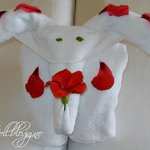 Towel animal made by Ahmed