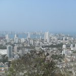 looking towards the new city of Cartagena, Colombia