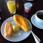 One round of my breakfast buffet (with view of Hilo Bay)