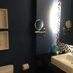 Another view of bathroom vanity
