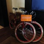 """Fleet"" of bicycles for guest use"