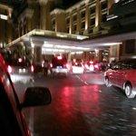 traffic jam at the main enterance