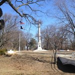 Monument on the Red Bank Battlefield grounds