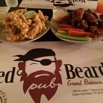 Red Beard's wings and fried conch.