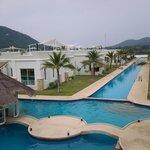 each villa is close to the beach