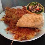 MC wrap (vegan) with hash browns