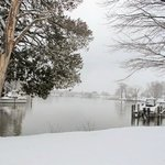 Bay Cottage's snow day