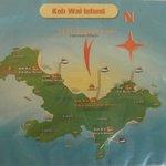 Karte von Koh Wai, Lage der Resorts