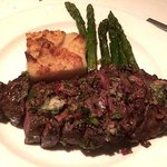Crossings - USDA Prime New York - Potatoes Gratin & Asparagus by Executive Chef Lalo Sanchez - P