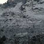 Snow on hillsides adjoining the hotel