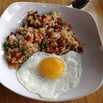 Side order of fried rice and egg