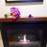 Fireplace in our room -- Honeymoon!