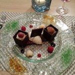 Duo chocolat litchi et framboise
