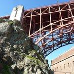 Under the Golden Gare Bridge looking up