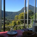 View from breakfast area