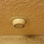 ragnatele sul soffitto della camera