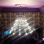 From the second floor balcony-quite a chandelier.