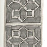 drawing of the detail on brickwork at the Trident Hotel