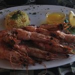 Delicious prawns for supper