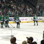 The STARS are warming up before the hockey game