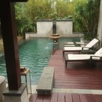 Another view of the private pool area