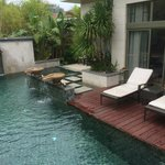 Private pool in the villa with a sundeck
