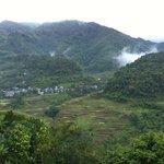 Blick vom Balkon nach Banaue, morgens