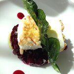 Light starter - beetroot and goat cheese