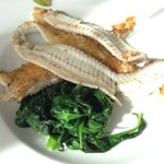 Light main course - sole and spinach
