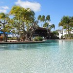 One of the pools next to happy hour bar and casual dining