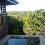 Viewn from the plunge pool in room 5