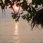 tramonto  visto dal bungalow
