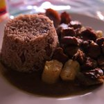Mutton Curry with rice & peas