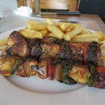 Chicken skewers (can't remember the name on the menu)