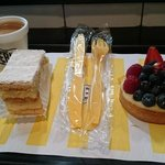 Espresso, millefeuille and berry tart