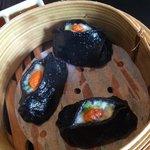 Dim Sum with black squid