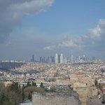 vue des remparts 300m en remontant de Kariye Camii Sokak
