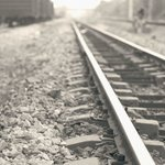 Railway track behind the hotel
