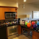 Suite, decorated for our birthday by staff plus champagne