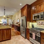 A Chef's Kitchen at the Bungalow is great for hosting dinner Parties