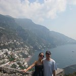 Photo op with Positano in the background